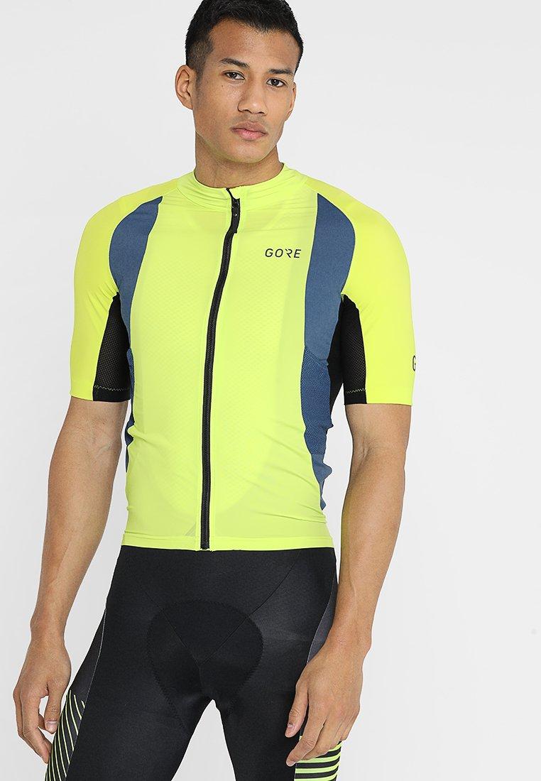 Gore Wear - PRO TRIKOT - Triko spotiskem - citrus green/deep water blue