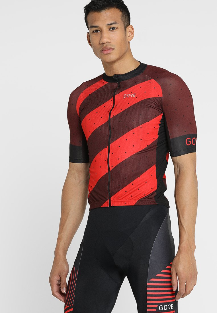 Gore Wear - TRIKOT - T-Shirt print - red/black