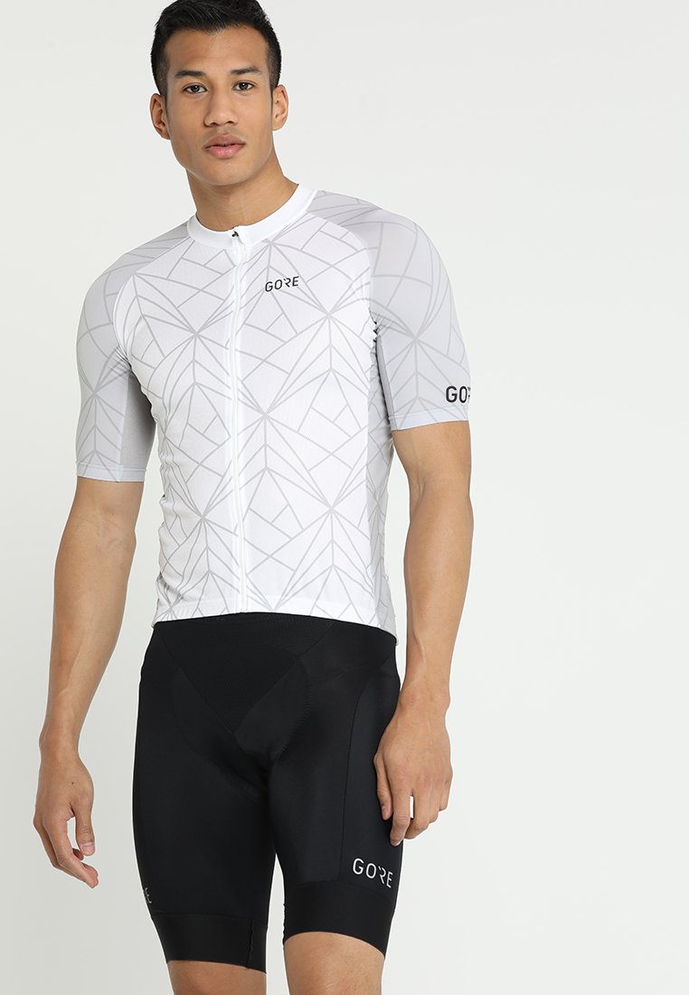 Gore Wear - TRIKOT - T-Shirt print - white/light grey