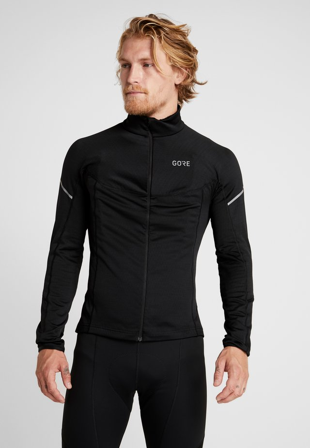 THERMO ZIP  - Sports shirt - black