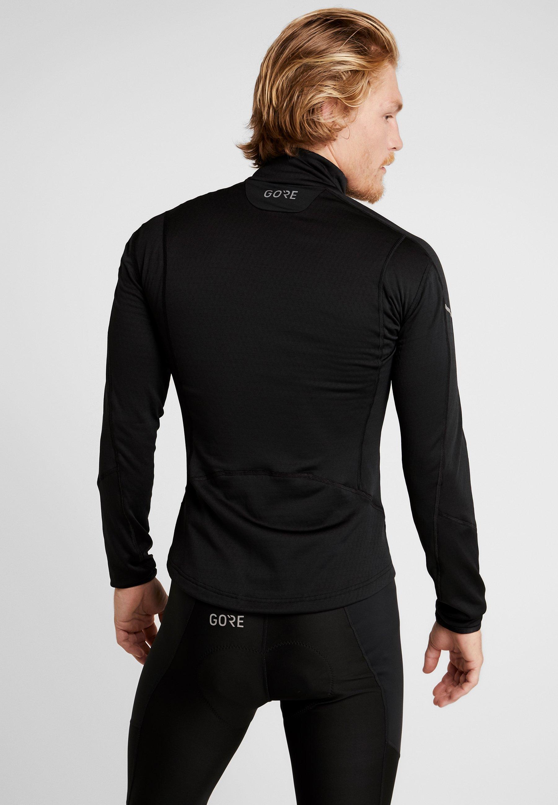 De Thermo ZipT Black Wear shirt Gore Sport WEH9Ie2DY