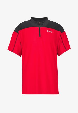 ZIP TRIKOT - Print T-shirt - red/black