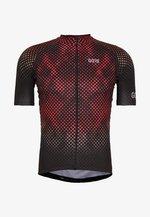 ENERGIA TRIKOT - T-Shirt print - black/red