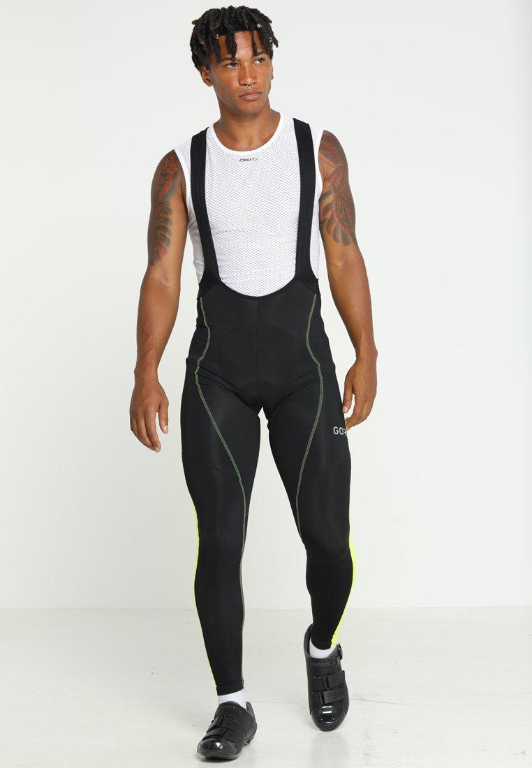 Gore Wear - THERMO TRÄGERHOSE - Legging - black/neon yellow