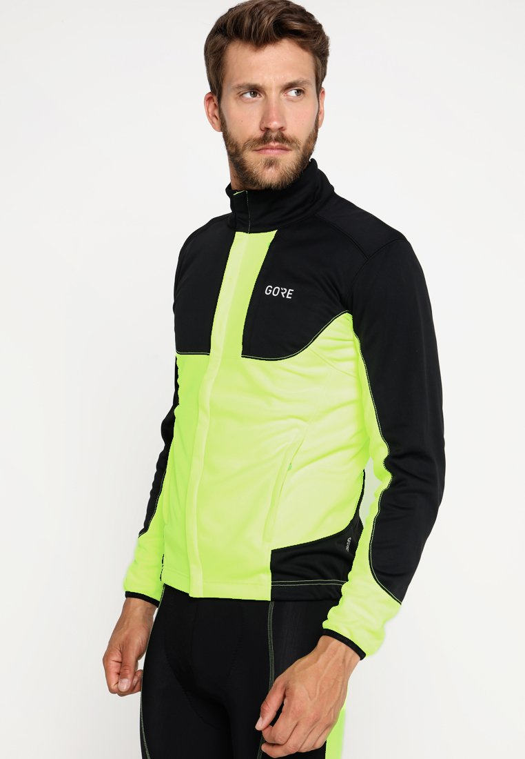Gore Wear - THERMO TRAIL - Fleecejacka - neon yellow/black