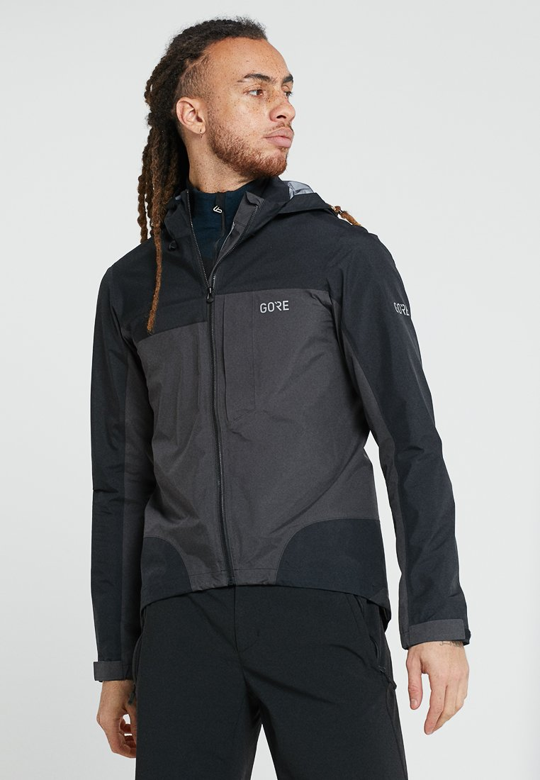 Gore Wear - GORE® C5 GORE-TEX ACTIVE TRAIL  - Hardshelljacke - black/terra grey