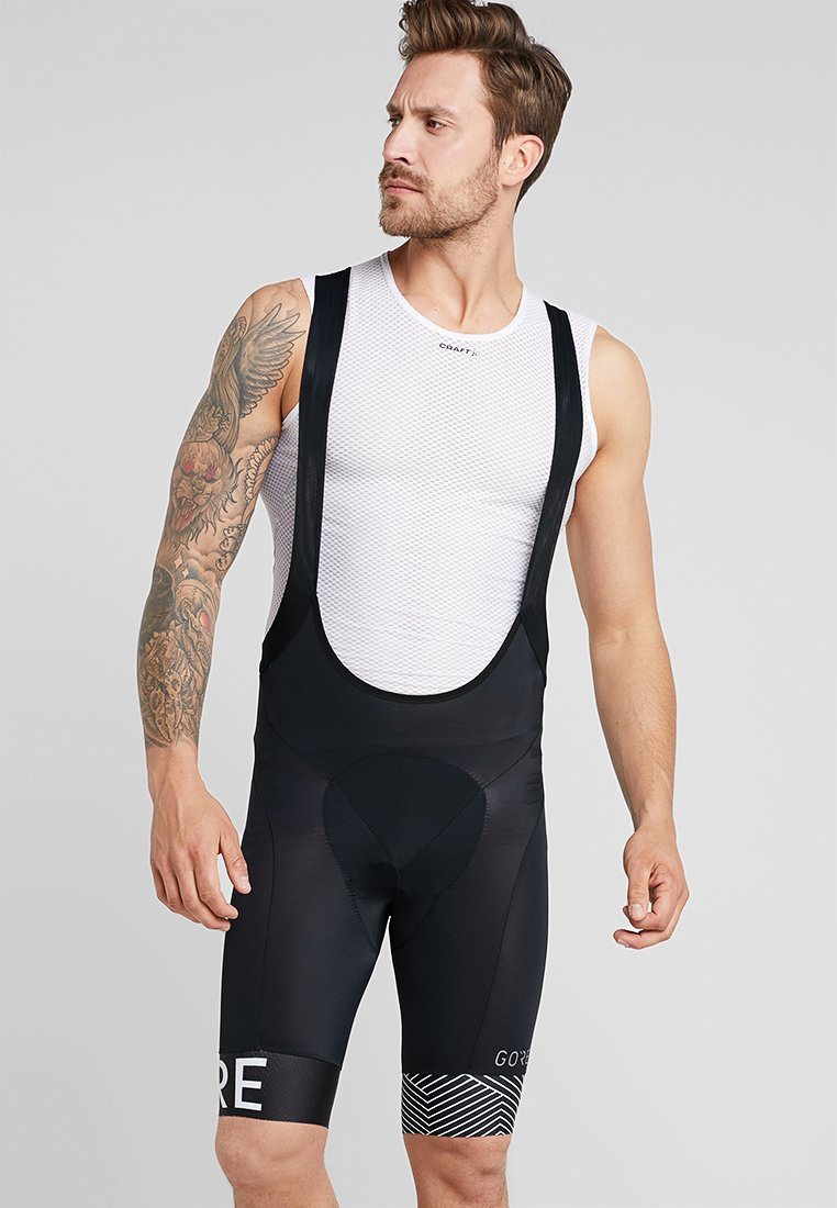 Gore Wear - C5 OPTILINE KURZE TRÄGERHOSE - Tights - black/white