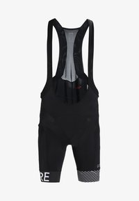 Gore Wear - C5 OPTILINE KURZE TRÄGERHOSE - Legginsy - black/white - 6