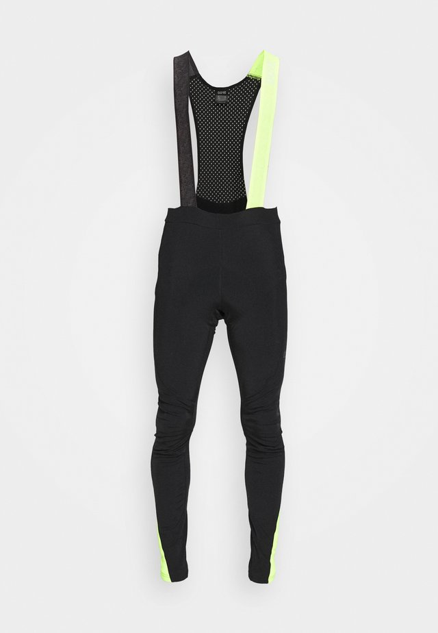 THERMO - Shorts outdoor - black/neon yellow