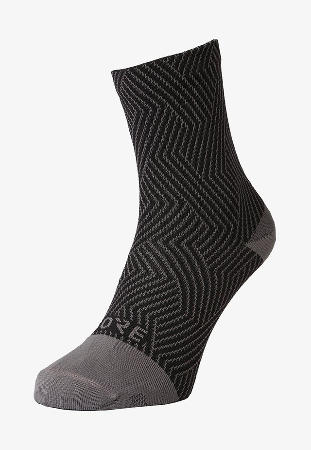 GORE® C3 SOCKEN MITTELLANG - Sports socks - graphite grey/black