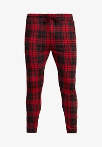 Good For Nothing - FITTED TARTAN TAILORED PANTS WITH BRANDED TAPING - Kangashousut - red - 4
