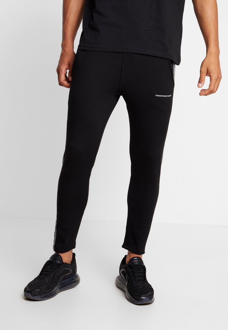 Good For Nothing - FITTED CHECK TAPING - Tracksuit bottoms - black
