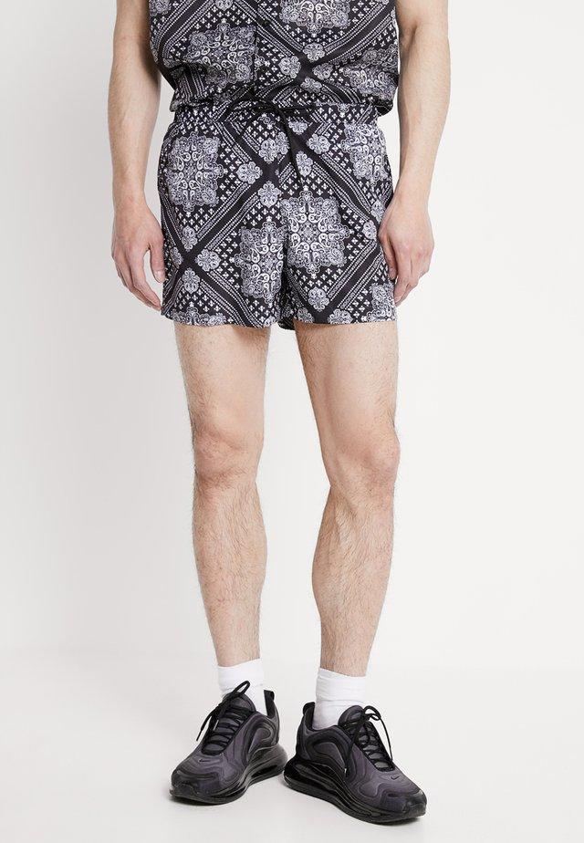 PAISLEY - Shorts - black/offwhite