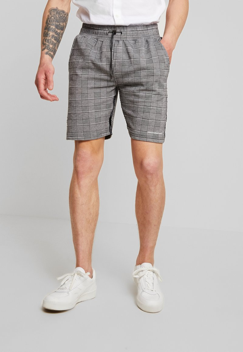 Good For Nothing - PRINCE OF WALES CHECK - Shorts - grey