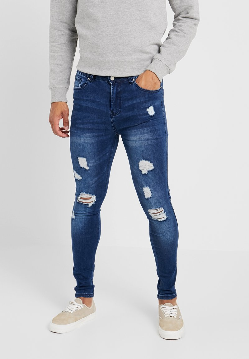 Good For Nothing - SKINNY MID WASH - Jeansy Skinny Fit - blue denim