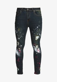 Good For Nothing - WITH PAINT SPLATTER - Jeans Skinny Fit - black - 4