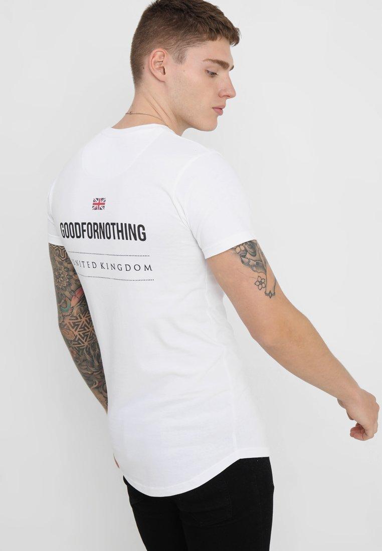 Good For Nothing - LOGO BACK TEE - Print T-shirt - white