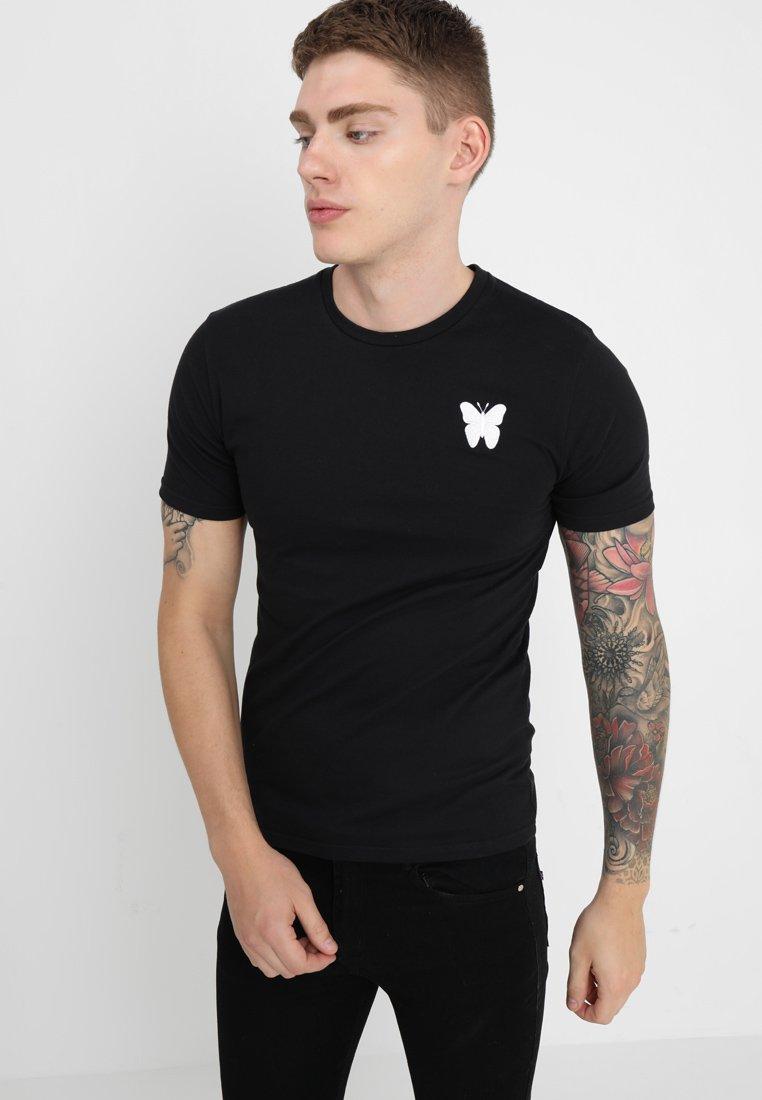 Good For Nothing - LOGO BACK TEE - Print T-shirt - black