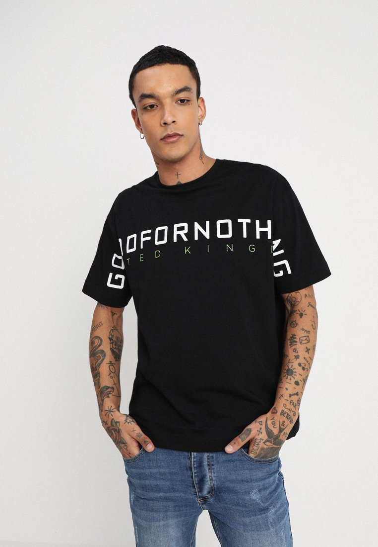 Good For Nothing - OVERSIZED WITH LARGE SCREEN PRINT - T-Shirt print - black