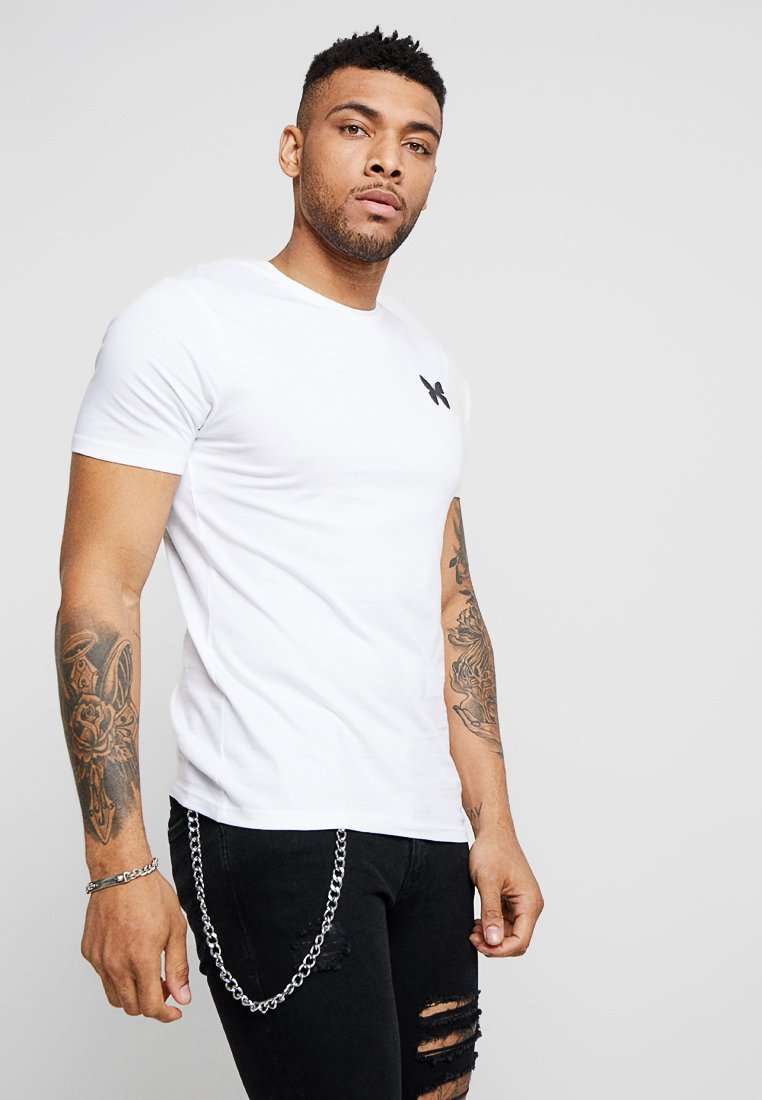 Good For Nothing - FITTED BACK BRANDING - Basic T-shirt - white