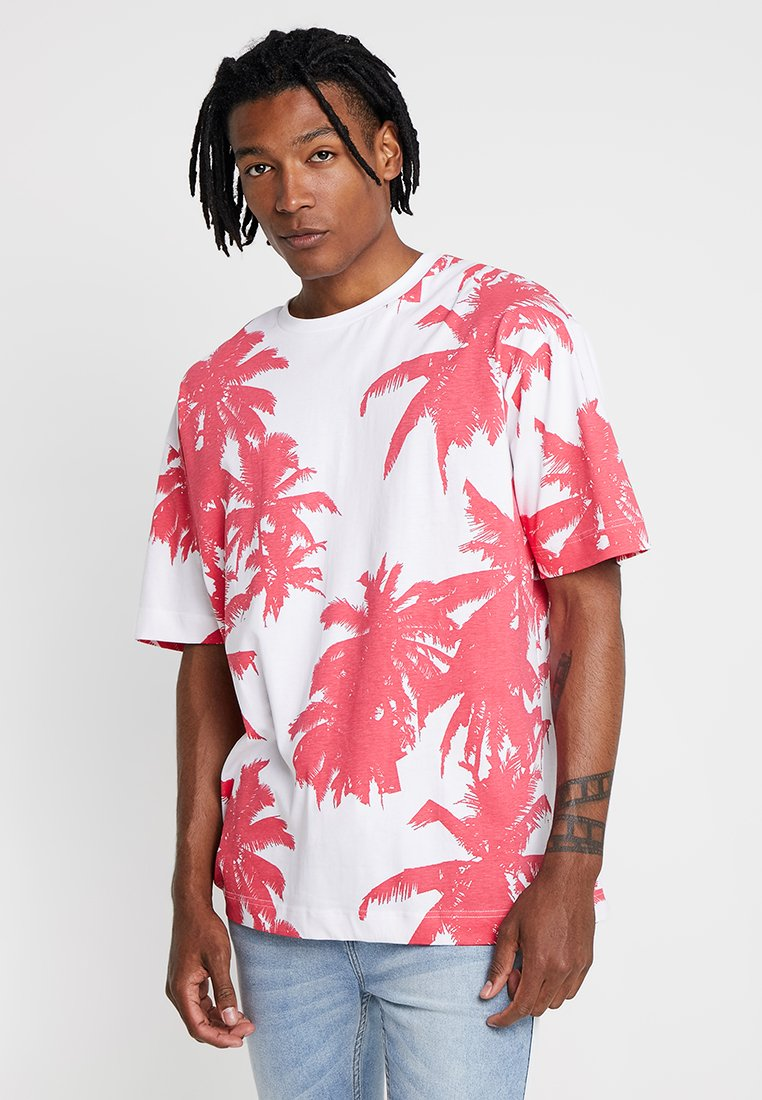 Good For Nothing - BLAZE OVERSIZED - T-shirts print - red/white