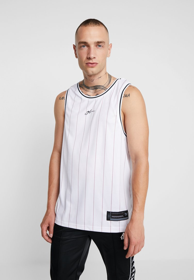 Good For Nothing - SIGNATURE PINSTRIPE VEST - Top - white/black