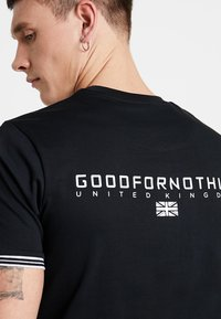 Good For Nothing - TEE STRIPE ARM - T-shirts med print - black - 4