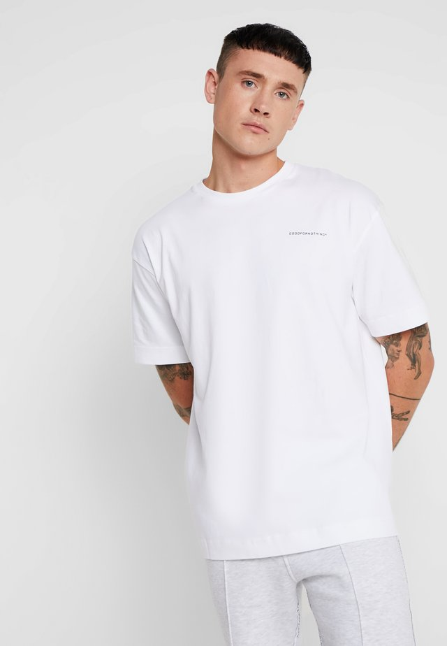 ESSENTIAL OVERSIZED - T-shirt - bas - white