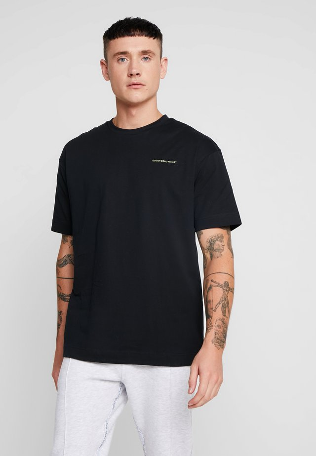 ESSENTIAL OVERSIZED - T-shirt - bas - black