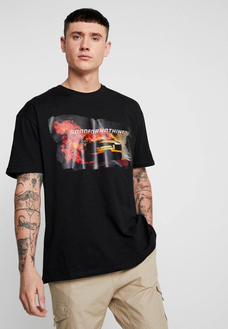 Good For Nothing - SCREEN GRAPHIC OVERSIZED - Print T-shirt - black