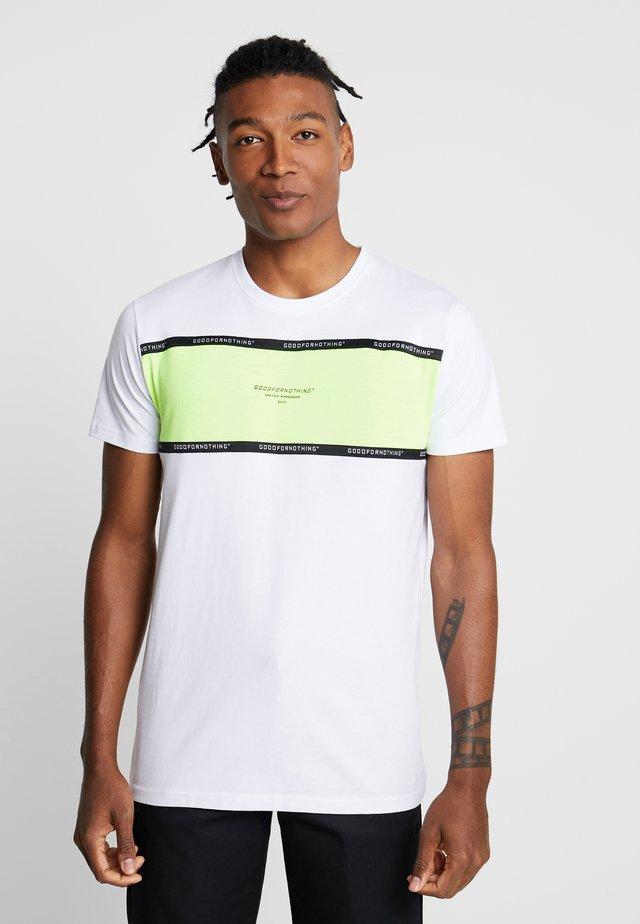 TAPED PANEL - T-shirt imprimé - white