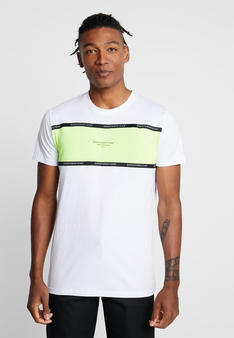 Good For Nothing - TAPED PANEL - T-shirt con stampa - white