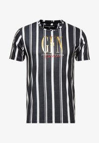 Good For Nothing - FITTED STRIPE  - T-shirts med print - black - 3