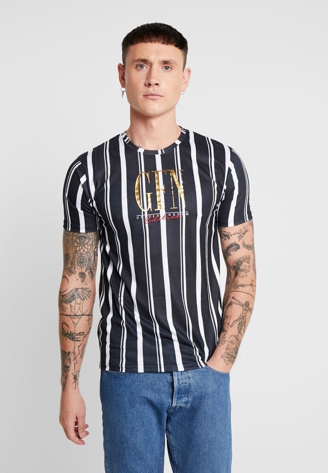 FITTED STRIPE  - T-shirt print - black
