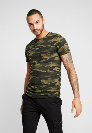 FITTED GREEN CAMO  - T-shirt imprimé - khaki