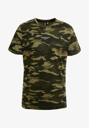 FITTED GREEN CAMO  - T-shirts med print - khaki