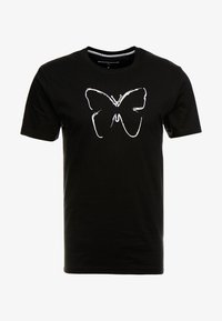 Good For Nothing - FITTED WITH RAISED OUTLINE BUTTERFLY - T-shirt z nadrukiem - black - 3