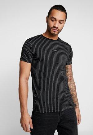 PINSTRIPE - T-Shirt print - black