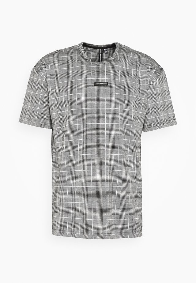 OVERSIZED PRINCE OF WALES CHECK - T-Shirt print - grey