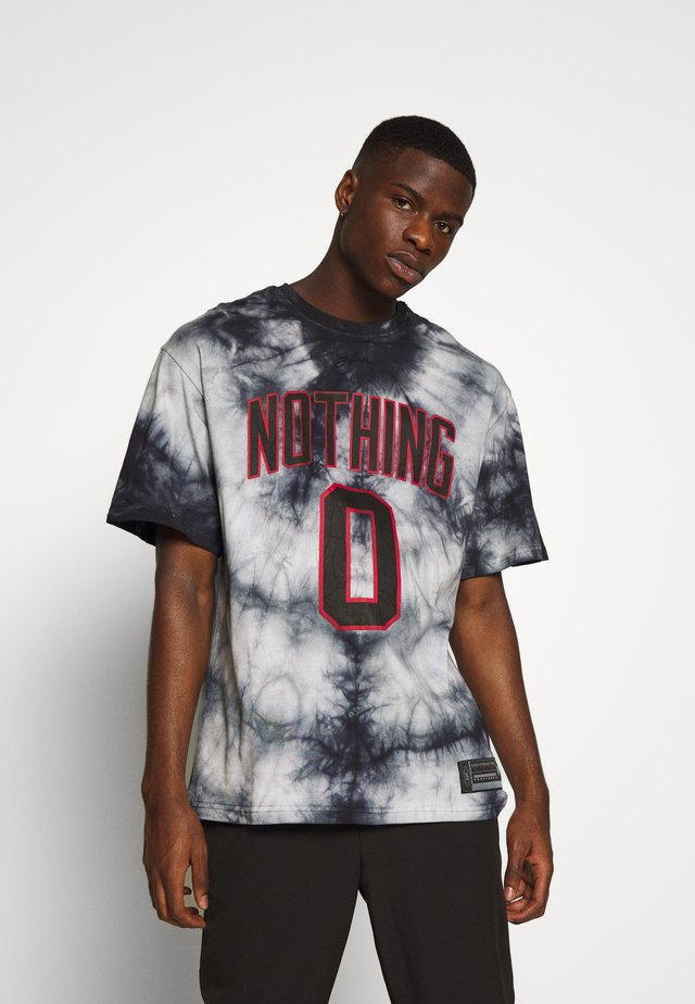 OVERSIZED TIE DYE NOTHING - T-shirt med print - multi-coloured