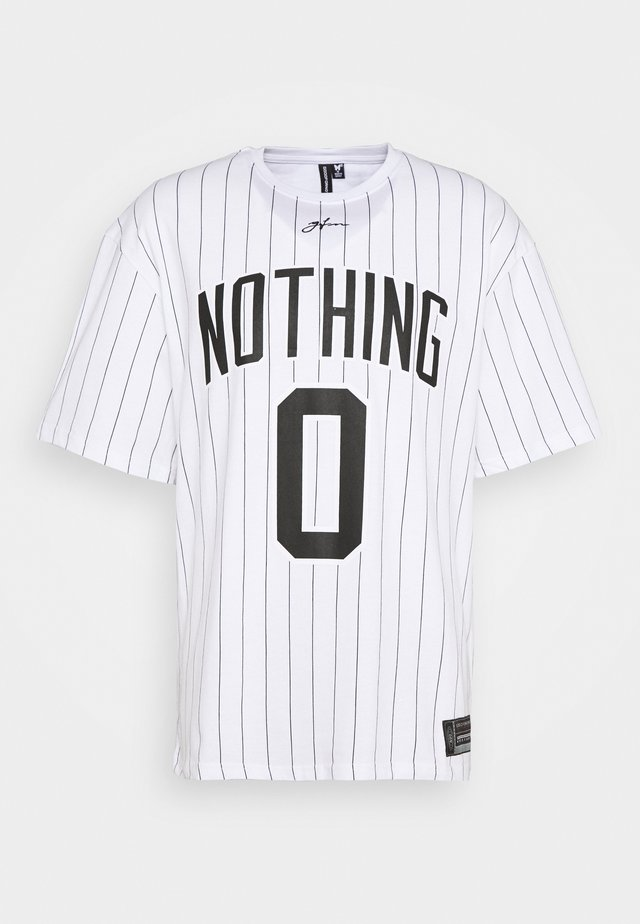 OVERSIZED NOTHING PINSTRIPE  - T-shirts print - white