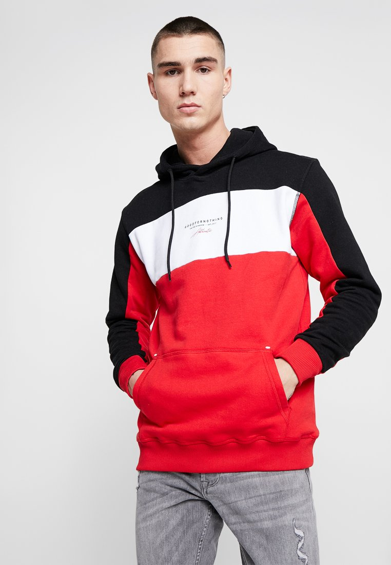 Good For Nothing - CUT & SEW WOVEN TAPE DETAIL SCREEN - Hoodie - red/black/white