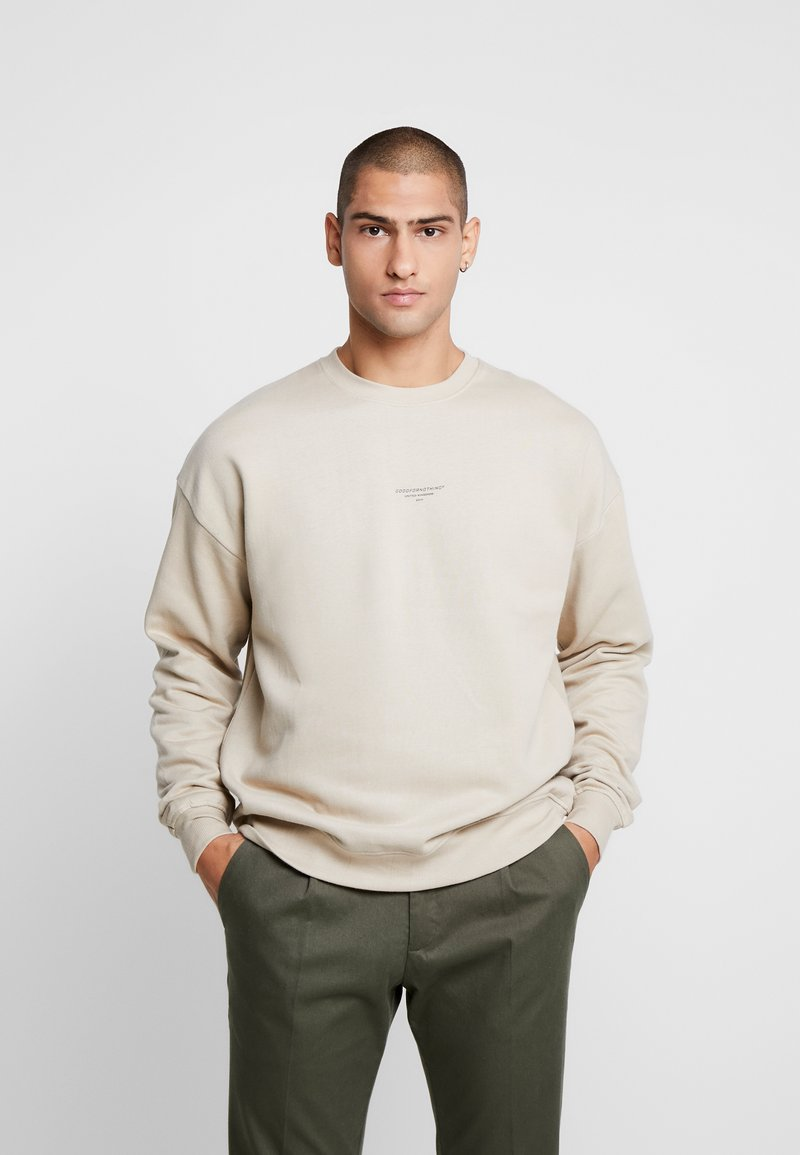 Good For Nothing - OVERSIZED ESSENTIAL - Mikina - stone