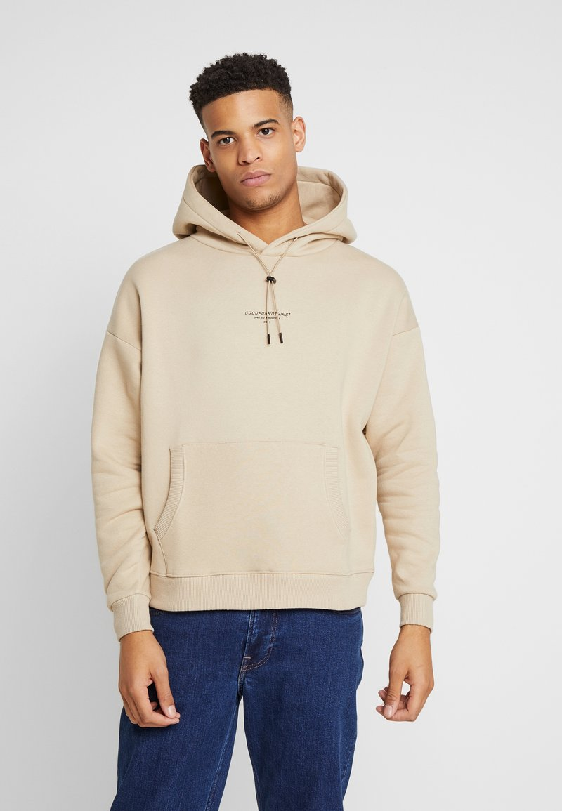 Good For Nothing - OVERSIZED HOODIE IN ACID WASH - Mikina skapucí - stone