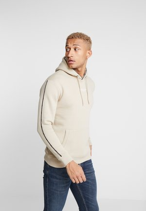 GOOD FOR NOTHING HOODIE IN STONE WITH TAPING - Sweat à capuche - stone