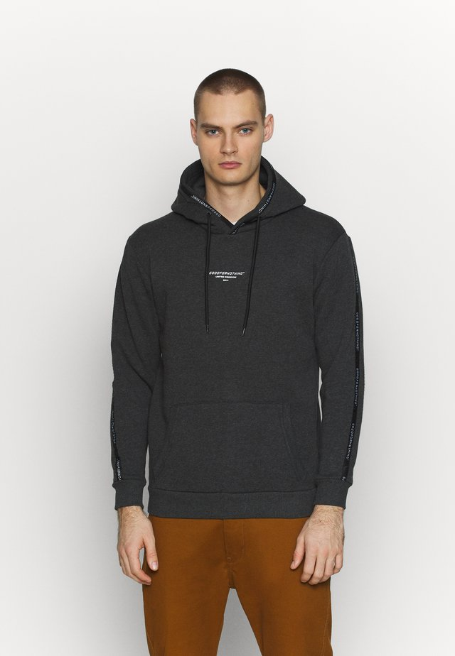 FITTED HOODIE - Bluza z kapturem - grey