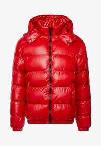 Good For Nothing - WET LOOK PUFFER JACKET - Winterjacke - red - 4