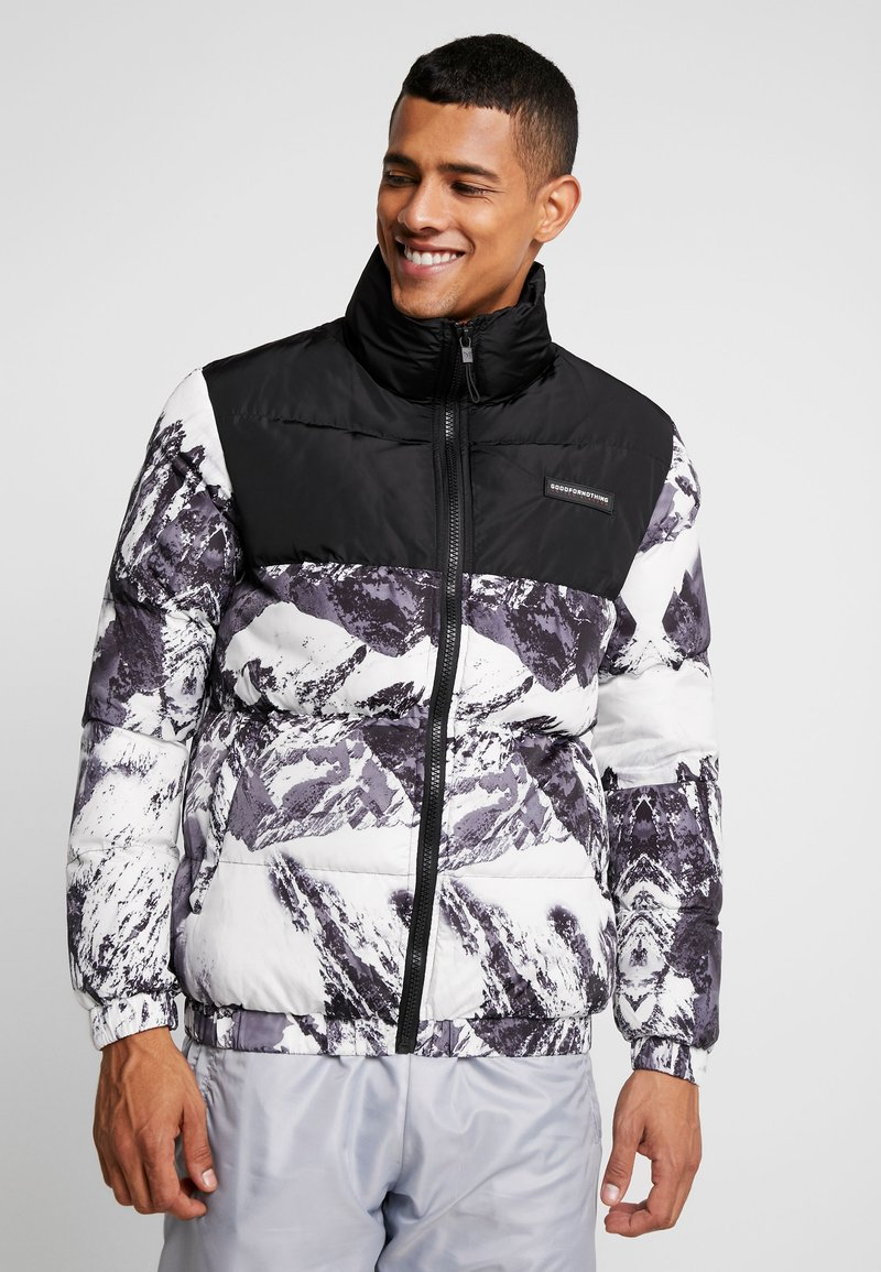 Good For Nothing - MOUNTAIN FUNNEL NECK PUFFER JACKET - Winter jacket - black/white