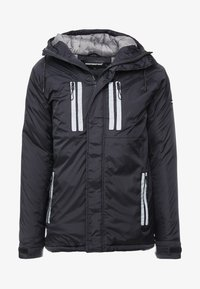 Good For Nothing - REFLECTIVE LONG PUFFER JACKET - Jas - black - 5