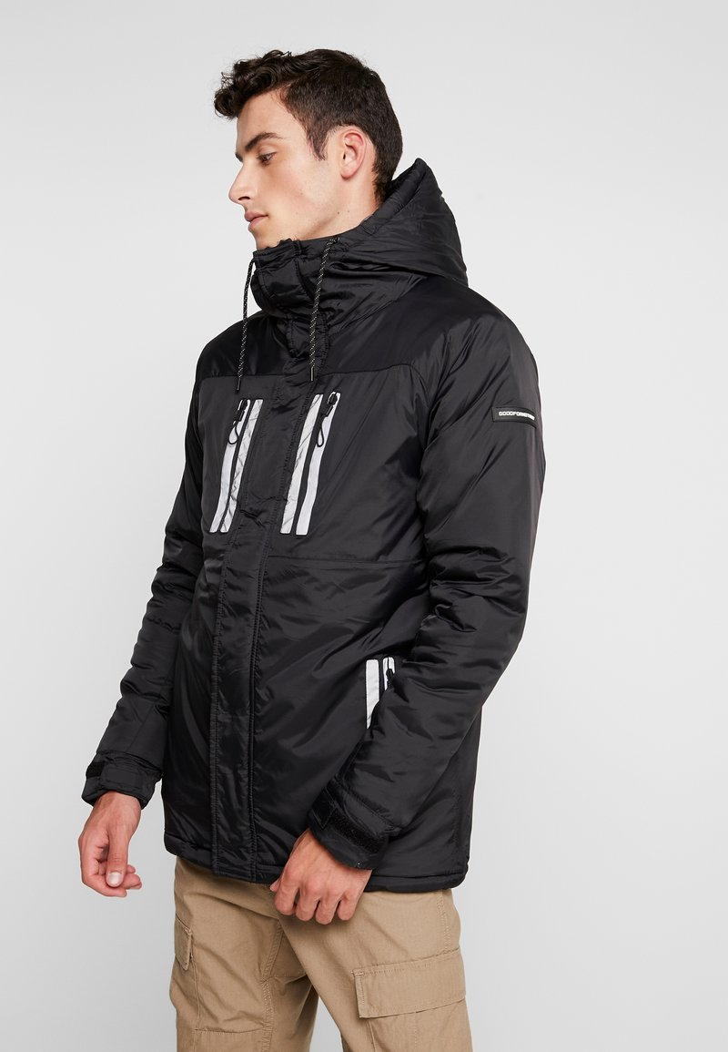 Good For Nothing - REFLECTIVE LONG PUFFER JACKET - Jas - black